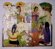 Flower Sellers: Homage to Diego Rivera (Click for larger image.)